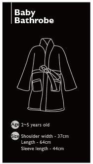 Toddler's Bathrobe 2~5years 4