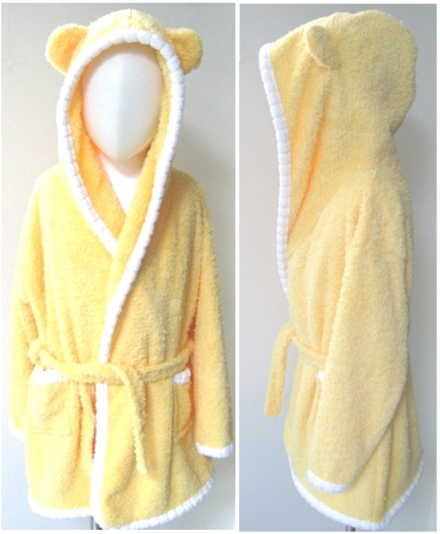 Baby Piping Hooded Bathrobe 2~5years 3
