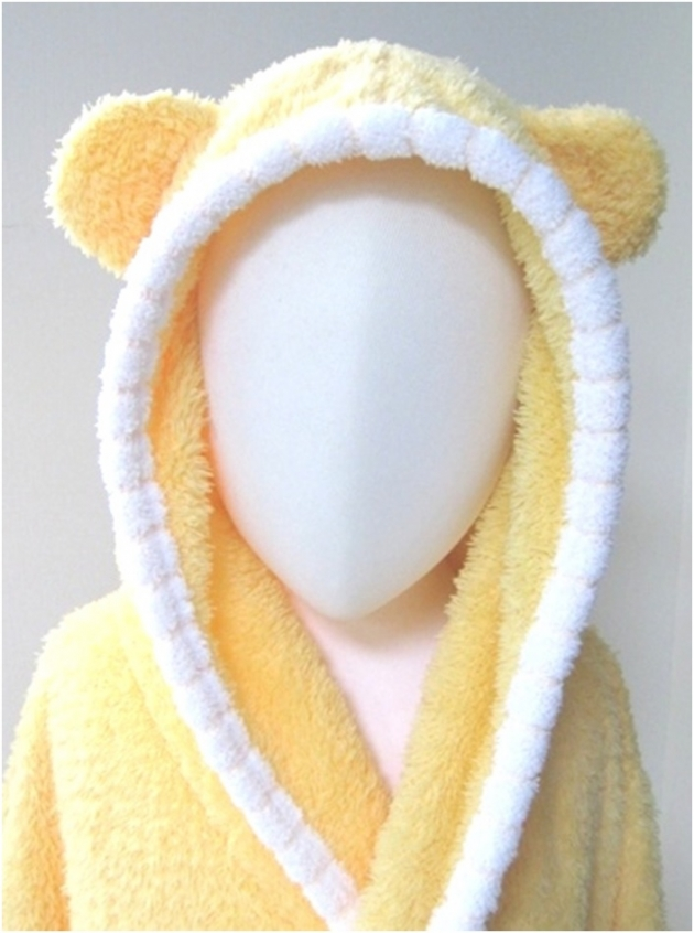 Baby Piping Hooded Bathrobe 2~5years 4