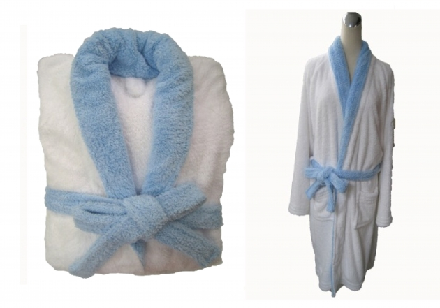 Adult's Two Tone Shawl Collar Robe 5
