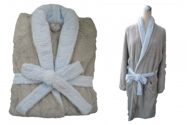 Adult's Two Tone Shawl Collar Robe 2