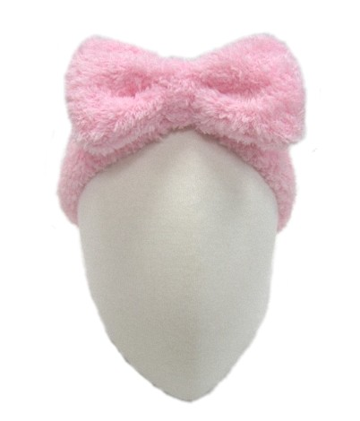 Fluffy Hair Band with bow decoration 2