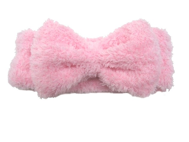 Fluffy Hair Band with bow decoration 1