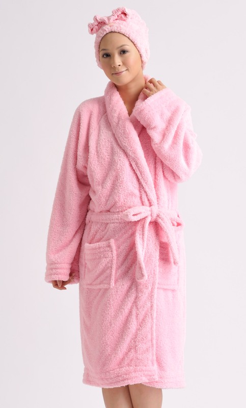 Adult's Shawl Collar Robe, solid color 4